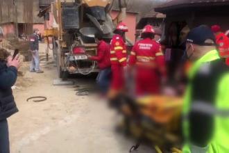 Un bărbat din Dâmbovița a murit, după ce a fost călcat de un vehicul care transporta beton