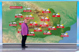 Frig și ploi consistente în toată țara. La munte ninge și va fi viscol