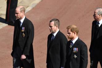 FOTO. Cum a evitat Prințul William să stea lângă fratele său la înmormântarea bunicului lor