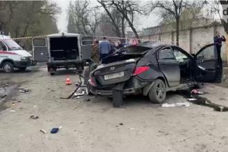 VIDEO. Cinci adolescenţi au murit într-un Hyundai izbit de un copac, pe un drum din Rusia