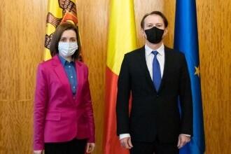Florin Cîțu și Maia Sandu au discutat despre vaccinarea cetăţenilor români din R. Moldova în centre din România