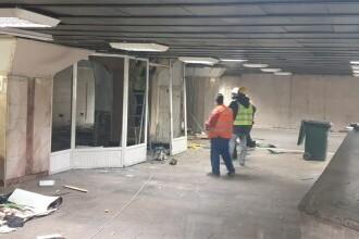 Chioșcurile de la metrou din stația Gara de Nord au fost demolate, a anunțat Clotilde Armand