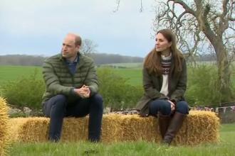 Prințul William și soția sa, Kate, au vrut să vadă cum e viața la țară și s-au plimbat cu tractorul