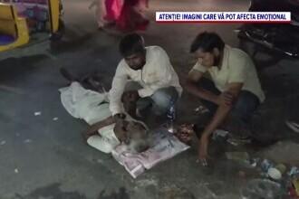 Imagini dramatice din India, unde pacienții COVID mor pe capete din cauza lipsei de oxigen