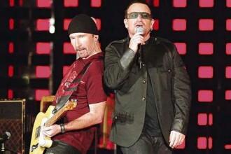 Primul concert U2 la Moscova! Bono s-a intalnit cu presedintele rus