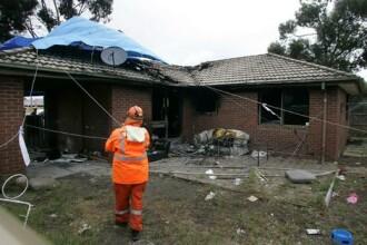 Explozie la o soba, in Arad. Tatal, trei fetite si bunica lor au ajuns la spital cu arsuri