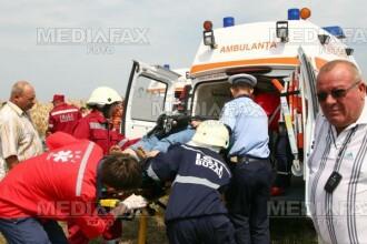 Un sofer bulgar a cazut cu TIR-ul intr-o rapa adanca de 20 de metri