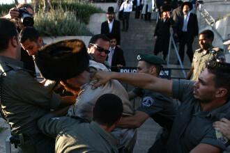Bataie intre evreii ultraortodocsi si politistii din Tel Aviv