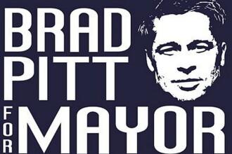 Brad Pitt isi schimba cariera. Daca ajunge primar?