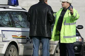 Arges: Sofer bucurestean prins dupa ce politistii au tras focuri de arma