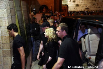 Madonna s-a recules la Zidul Plangerii din Ierusalim