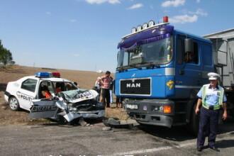 Accident tragic pe DN11. 2 politisti morti, seful DGA Brasov in stare grava
