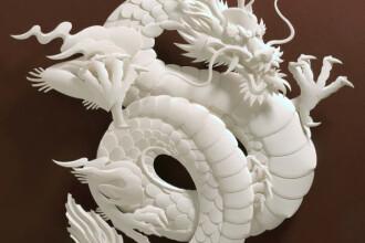 Sculpturi care au uimit lumea: dragoni, poduri si portrete din hartie