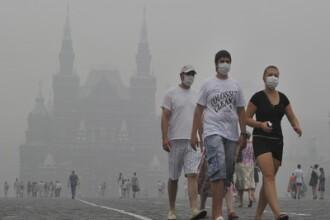 E rau la Moscova: oamenii au masti, din cauza fumului de la incendii! VIDEO