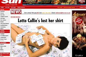 A cheltuit 2 mil. lire sterline castigate la loto pe silicoane si droguri