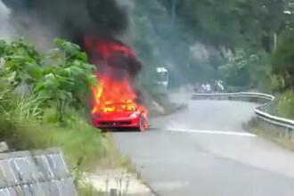 Dureros! Un Ferrari 458 a luat foc din senin pe o sosea din China!