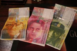 Francul elvetian a scazut la cel mai redus nivel din ultimele doua saptamani