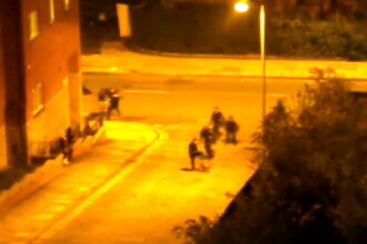 Nu e de gluma in Manchester. Imagini VIDEO cu politia care vaneaza si bate huligani