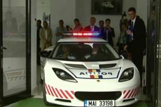 Pretiosul Lotus al politistilor de la Rutiera i-a lasat la greu. A fost tras de urgenta pe dreapta