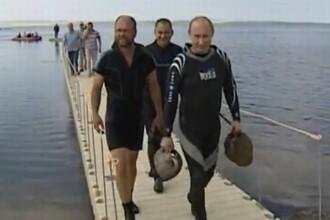 Vladimir Putin si povestea amforelor gasite de el pe fundul apei. O regie ieftina