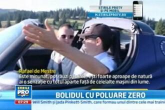 A traversat toata Europa fara sa consume un litru de combustibil si s-a oprit in Romania. VIDEO