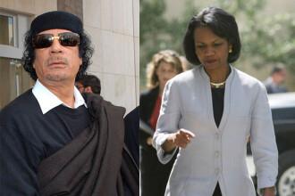 Cum a dovedit Ghaddafi pasiunea pe care o avea pentru Condoleezza Rice