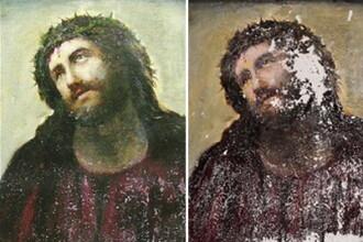 A vrut sa faca un bine, dar a distrus o capodopera. Ce a facut o batrana cu chipul lui Iisus. FOTO