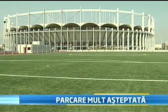 O investitie de 35 de mil. de lei. Cum arata parcarea National Arena, cu teren de sport pe acoperis