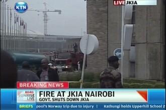 Incendiu de amploare pe aeroportul international din Nairobi, Kenya