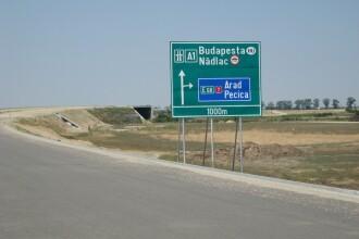 Cine va construi tronsonul de 69 de milioane de euro din autostrada Nadlac - Arad