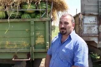 Imaginea unei Romanii cu o agricultura de export. Un fermier vinde pepeni in Cehia si Austria