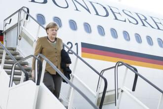 Avionul Angelei Merkel, vandalizat. Un barbat in chiloti si drogat a organizat o petrecere la bord