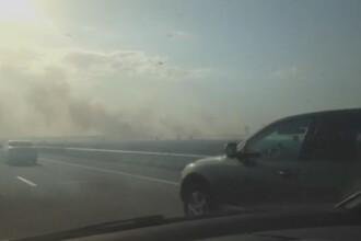 Incendiu pe Autostrada Soarelui.