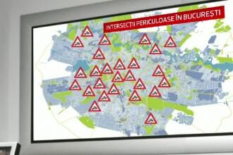 60 de oameni au murit si 760 au fost raniti intr-un an, in intersectiile din Capitala. Harta zonelor periculoase