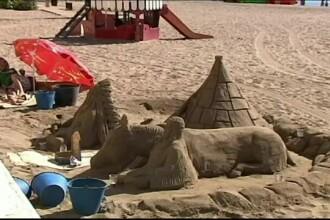 Decizie bizara in Spania. Ce risca persoanele care construiesc pe plaje castele de nisip de mari dimensiuni