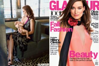 Ipostaza indrazneata in care apare Olivia Wilde pe coperta unei reviste: isi alapteaza fiul de 5 luni