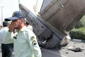 Un avion Iran-140 s-a prabusit la decolare in Teheran. Ministru iranian: Sunt 38 de morti si 10 supravietuitori
