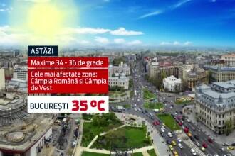 CANICULA in Romania. Doi galateni au lesinat pe strada in prima din cele trei zile in care toata tara fierbe la +35 de grade