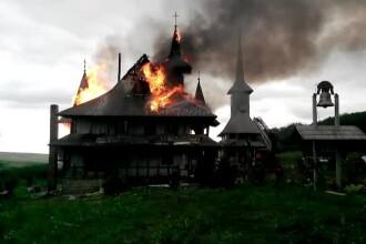 Incendiu puternic la o manastire de langa Botosani. Chiliile maicutelor au fost distruse aproape in intregime