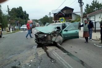 Imagini dure de la un accident ce a avut loc pe DN1A. Manevra imposibil de explicat a unui sofer a produs totul