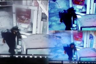 Incendiu misterios, surprins de camerele video, in Gara de Nord din Timisoara. Un om al strazii a dat foc unui magazin