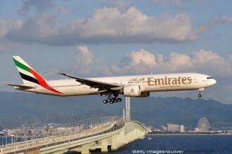 Un barbat a murit luni dimineata la bordul unui avion al companiei Emirates. Conditiile in care s-a intamplat incidentul