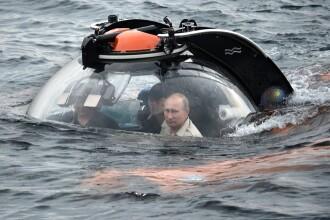 Putin s-a scufundat intr-un batiscaf in Marea Neagra pentru a cerceta epave. Mesajul transmis de pe fundul marii. VIDEO