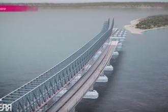 Podul de 3,3 miliarde de euro care va lega Rusia de Crimeea. Putin a ordonat sa fie gata pana in 2018. VIDEO