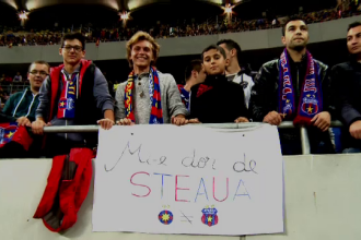 Disperarea suporterilor de a vedea Steaua fara Becali: