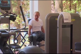 Cum se mentine in forma Vladimir Putin, la 62 de ani. Imagini inedite din timpul antrenamentului presedintelui rus