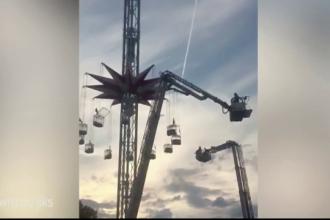Aventura terifianta intr-un parc de distractii din Londra. 19 oameni au ramas suspendati mai multe ore intr-o roata
