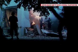 Doi morti si 11 raniti dupa o explozie devastatoare intr-un bloc din Iasi. Doua etaje au fost spulberate de suflul puternic