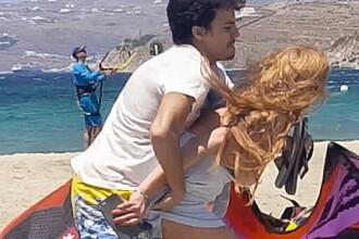 Scene violente cu Lindsay Lohan. Actrita este bruscata de logodnicul sau, rusul Egor, pe o plaja din Grecia. VIDEO