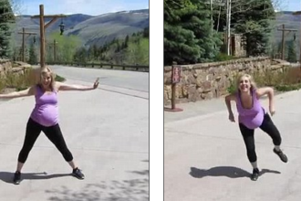 Imaginile cu o profesoara de dans insarcinata in 8 luni au cucerit internetul. Ce face tanara in clipul devenit viral: VIDEO